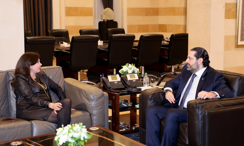 Pr Minister Saad Hariri meets Mrs Gizelle Khoury