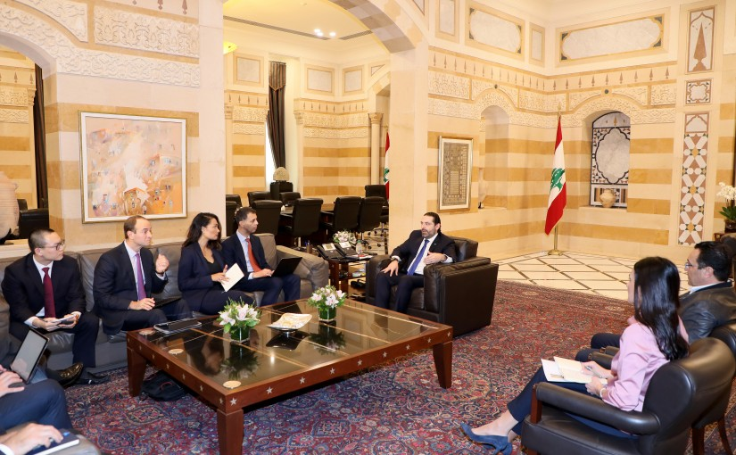 Pr Minister Saad Hariri meets a Delegation from Investors