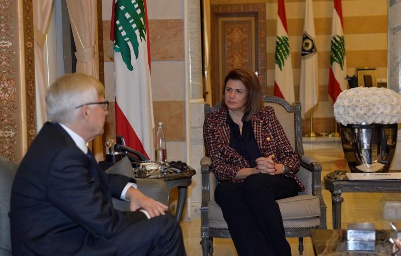 Minister Raya El Hassan Meets Russian Ambassador
