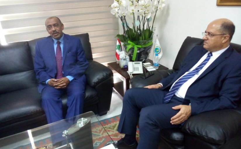 Minister Hassan Lakis Meets Sudan Ambassador