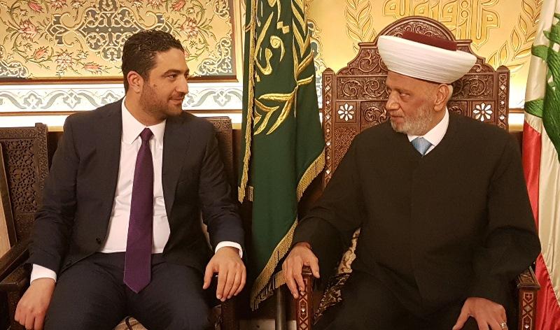 Grand Mufti Abdel Latif Derian Meets Minister Saleh El Gharib