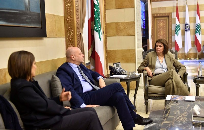 Minister Raya El Hassan Meets a Delegation From The UNRWA