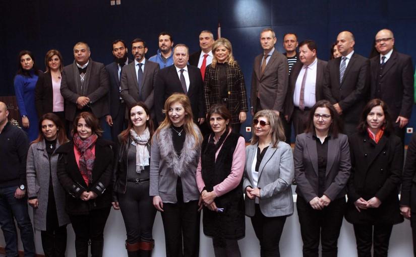 Minister May Chidiac Vists ENA at Baabda