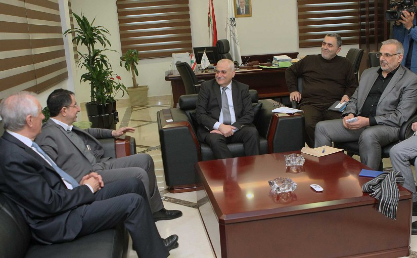 Minister Jamil Jabak meets a Delegation from Bekaa MPs