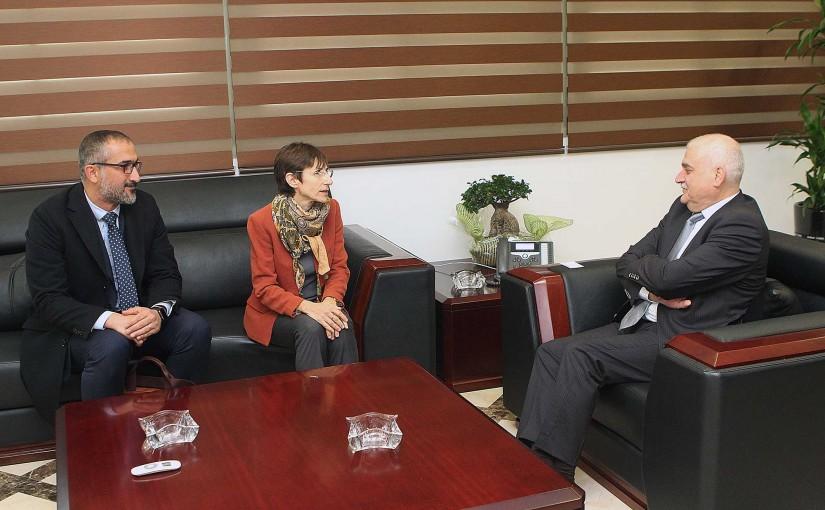 Minister Jamil Jabak meets a Delegation from UNHCR