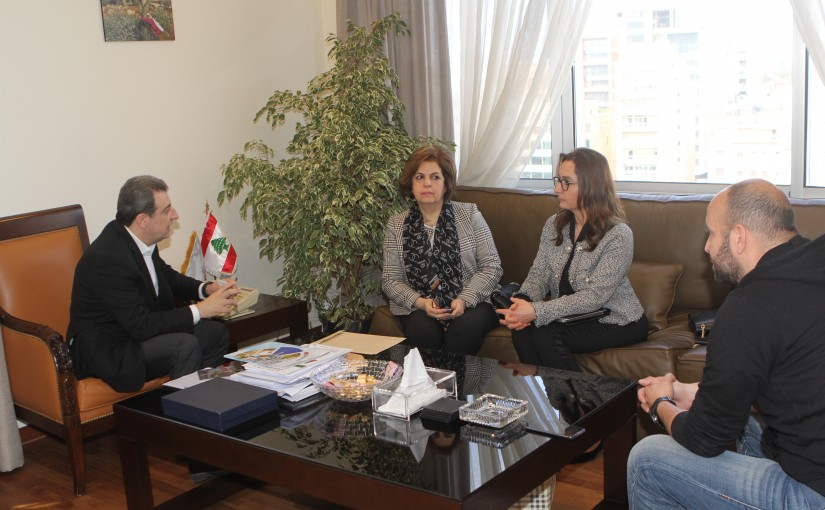 Minister Wael Abou Faour meets Mr Lina Dergham With a Delegation