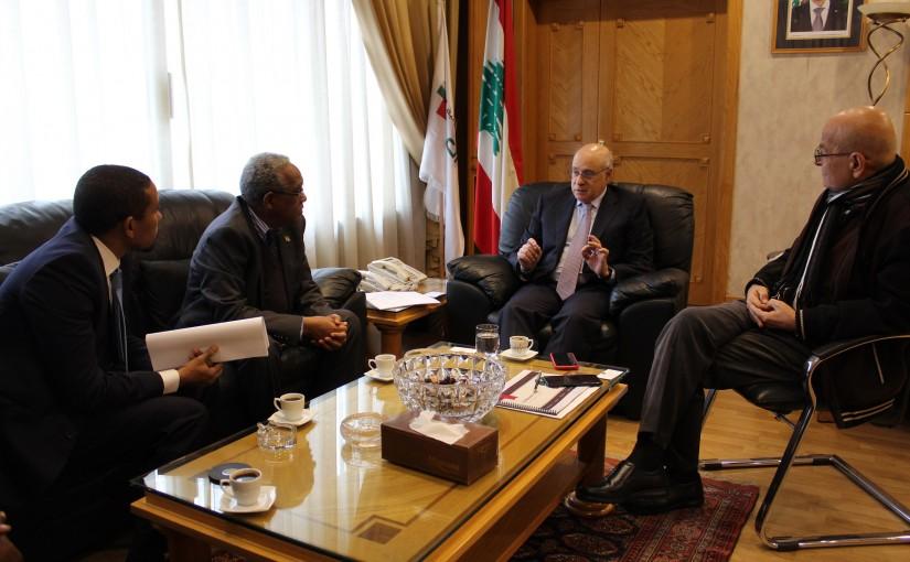 Minister Kamil abou Sleiman meets Ethiopian Ambassador