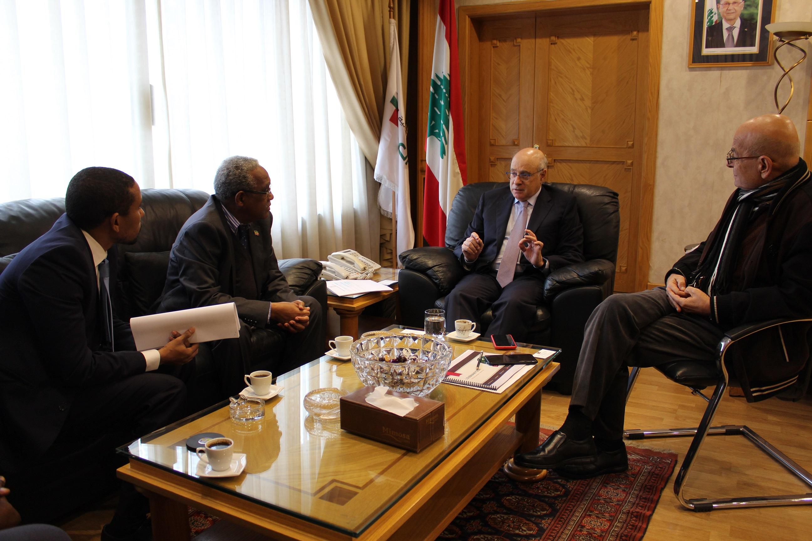 مع السفير الاثيوبي