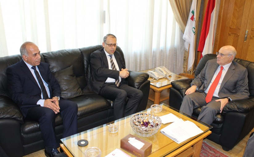 Minister Kamil abou Sleiman meets Egyptian  Ambassador