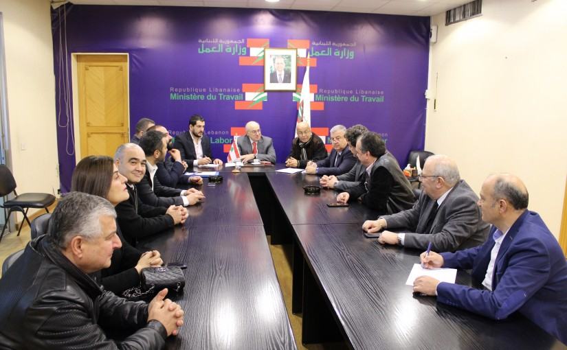Minister Kamil abou Sleiman meets a Delegation Offices for use