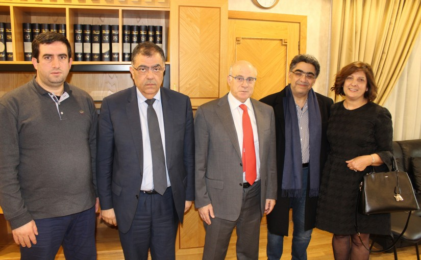 Minister Kamil abou Sleiman meets a Delegation from Lebanese Doctors Syndicate
