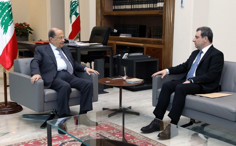 President Michel Aoun meets Minister Wael Abou Faour.