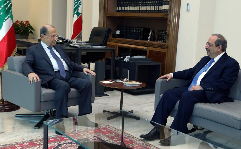 President Michel Aoun meets MP Ghassan Moukheiber.