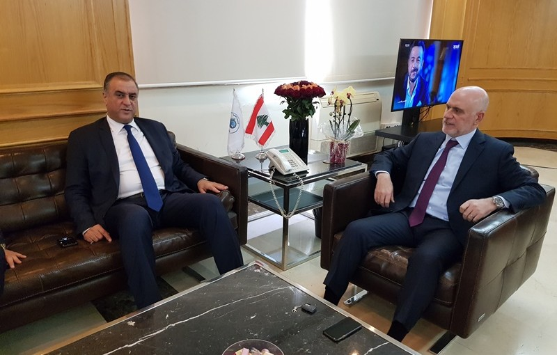 Minister Youssef Fenianos Meets MP Mohamad Sleiman
