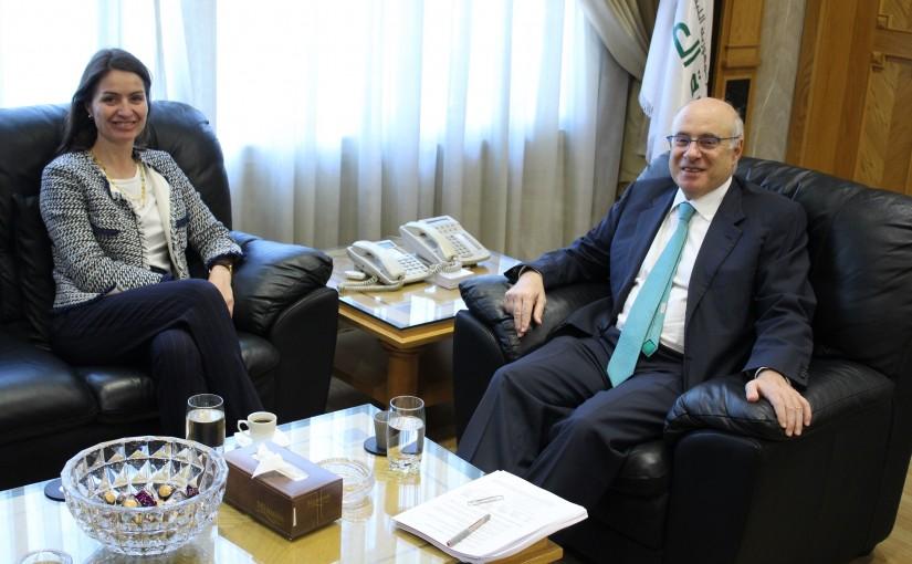 Minister Kamil Abou Sleiman Meets European Ambassador