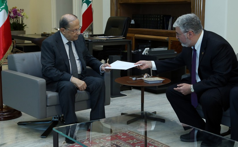 President Michel Aoun meets Dr Fadlo Khoury