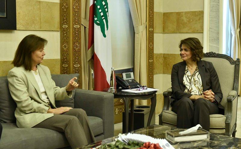 Minister Raya El Hassan Meets US Ambassador