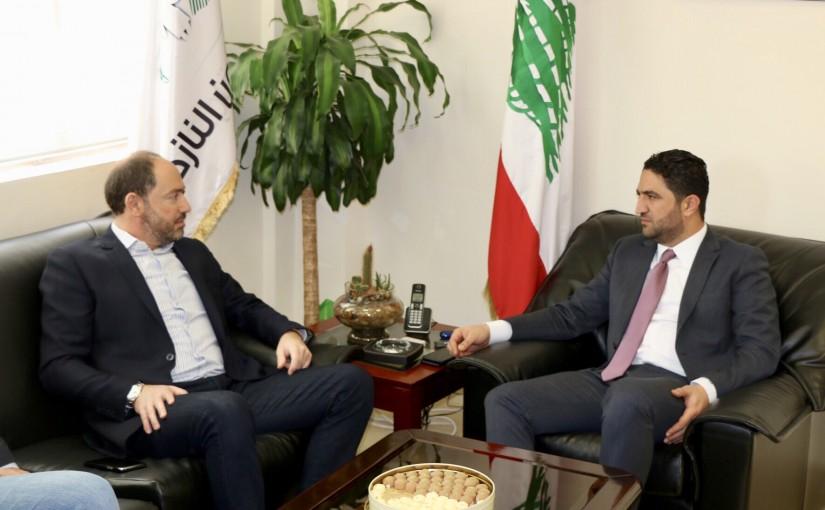 Minister Saleh Gharib Meets Mr Mansour Daou
