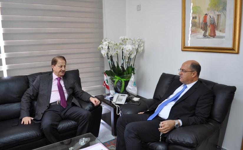 Minister Hassan Lakis Meets MP Talal Merhebi