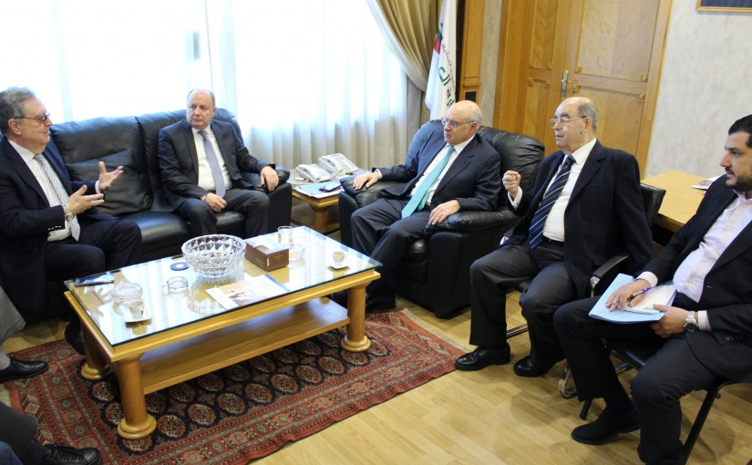 Minister Kamil Abou Sleiman Meets a Delegation From Dar Al Sayyad NewsPaper