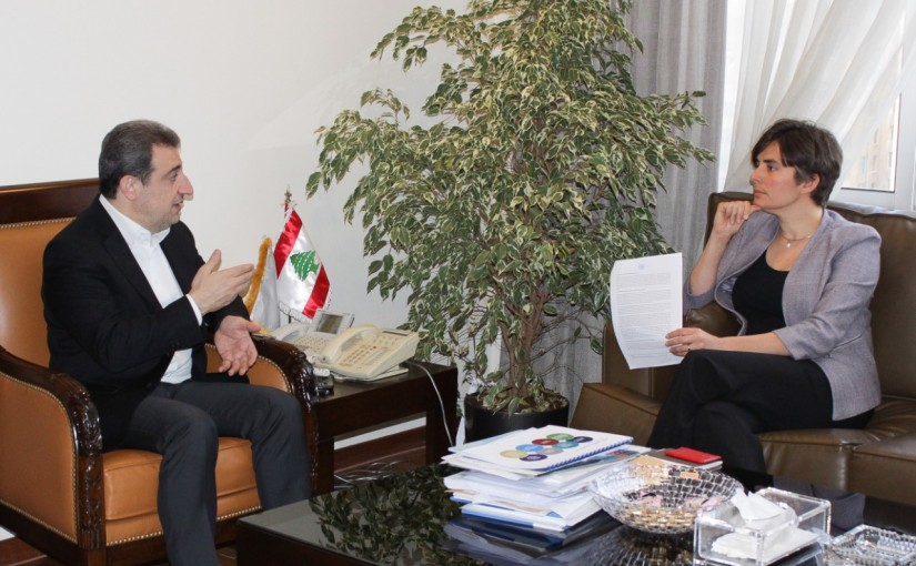 Minister Wael Abou Faour Meets Canadian Ambassador