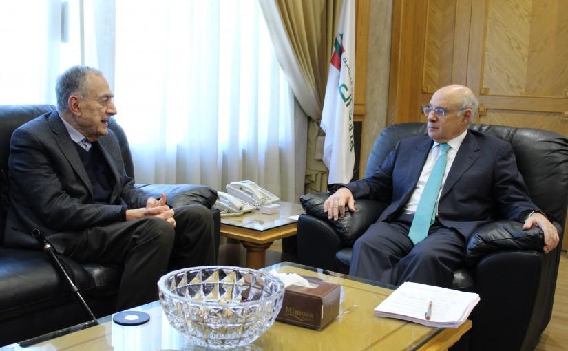 Minister Kamil Abou Sleiman Meets Mr Toubia Zakhia