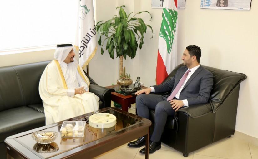 Minister Saleh Gharib Meets Qatar Ambassador