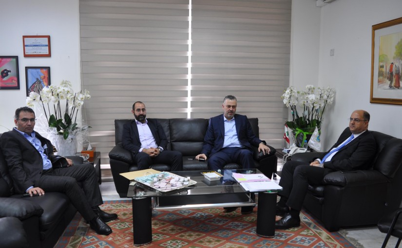 Minister Hassan Lakis Meets MP Hadi Hbeich