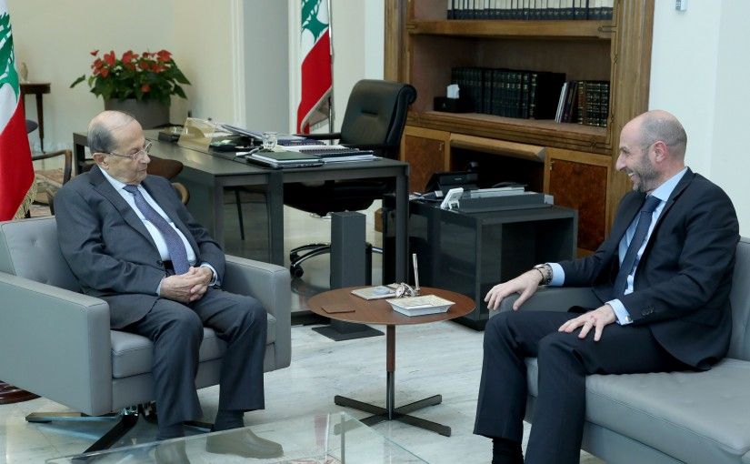 President Michel Aoun meets Minister  Fadi Jreissati.