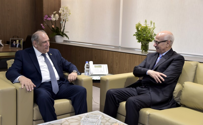 Minister Jamal Jarrah meets Moroccan Ambassador
