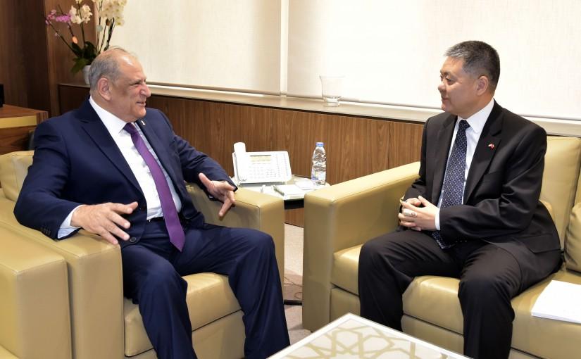 Minister Jamal Jarrah meets Chinese Ambassador