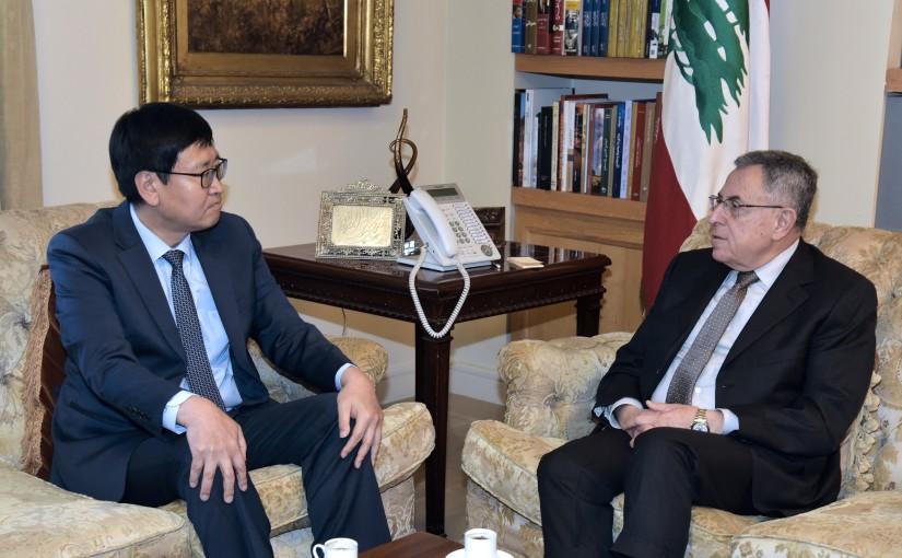 Former Pr Minister Fouad Siniora meets Korean Ambassador