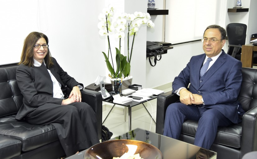 Minister Mansour Bteich meets Cypriot Ambassador
