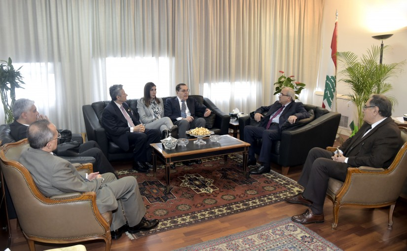 Minister Albert Serhan meets a Delegation from Council of the Lebanese Expatriate
