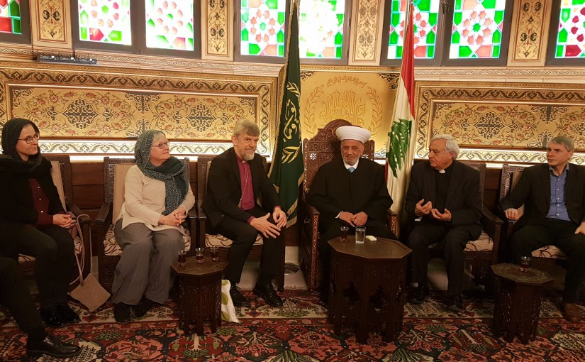 Grand Mufti Abdel Latif Derian Meets a Delegation From Danmark Church