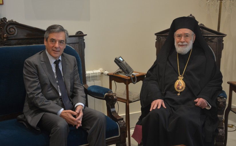 Bishop Elias Audi meets Former French Pr Minister Francois Fillon