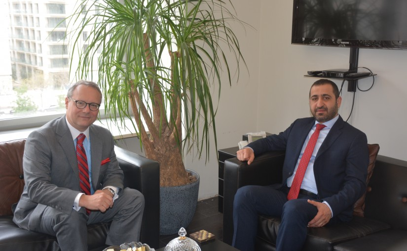Minister Ghassan Atallah Meets Austria Ambassador