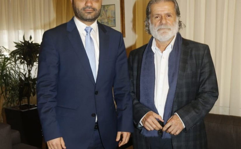 Minister Mouhamad Daoud Daoud meets Mr Marcel Khalifeh