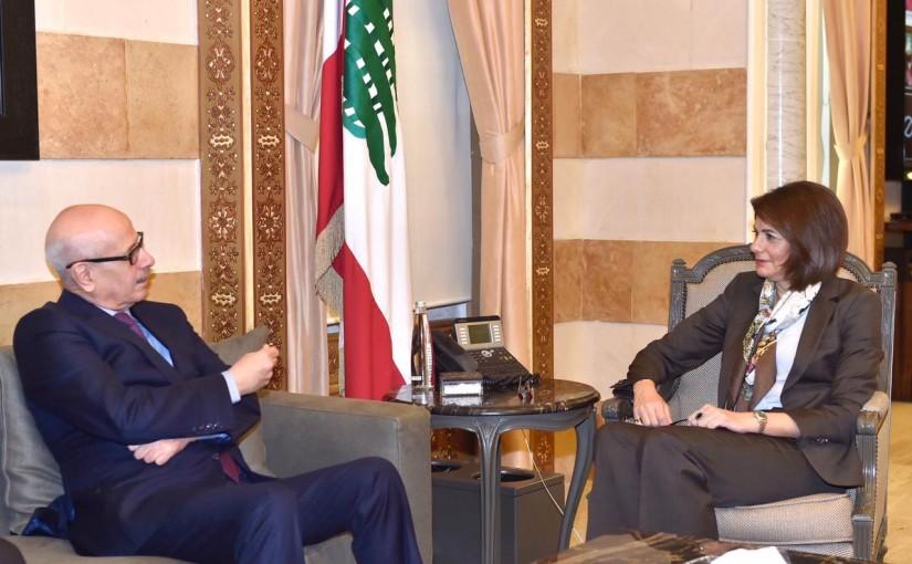 Minister Raya el hassan meets Moroccan Ambassador