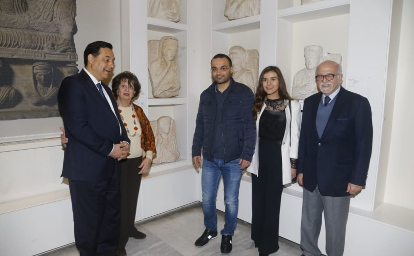 Minister Mouhamad Daoud Daoud Visits the Lebanese Museum
