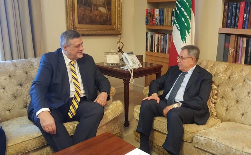 Former Pr Minister Fouad Siniora meets Mr Yan kolish