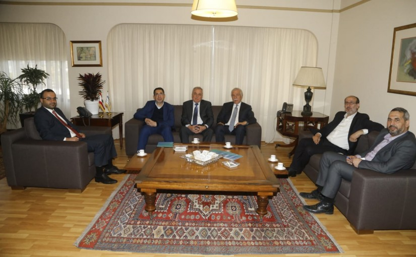Minister Mouhamad Daoud Daoud meets a Delegation  from Balbak MPs
