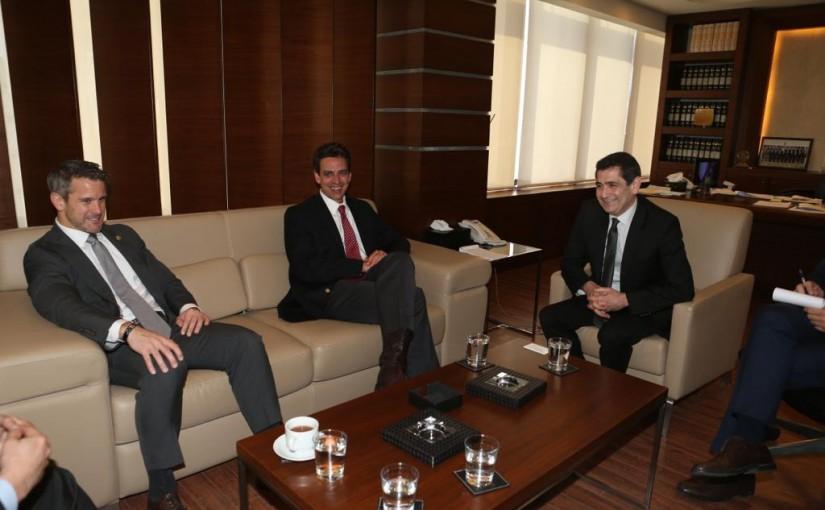 Minister Richard Kouyoumdjian meets a Congressman Delegation