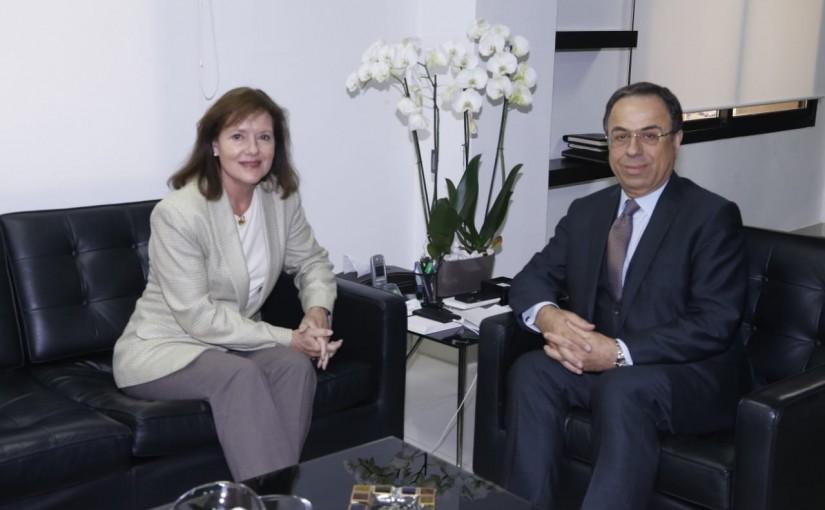 Minister Mansour Bteich meets US Ambassador