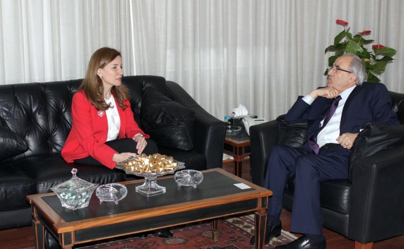 Minister Albert Serhan meets Mr Rouyada el Hajj