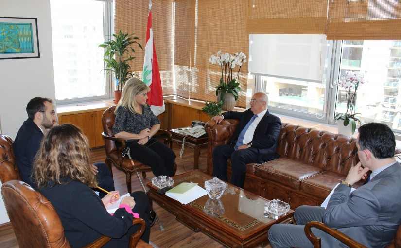 Minister May Chidiac Meets Chairman & Managing Director of LibanPost Mr Khalil Daoud