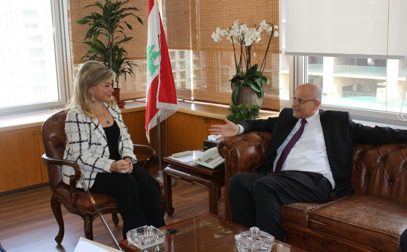 Minister May Chidiac Meets Director General of Tenders Department Jean Al Ayleh