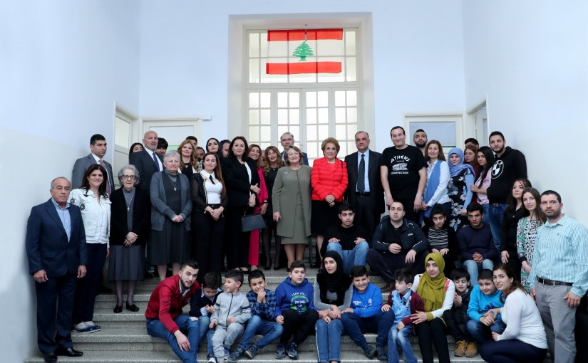 The First Lady Ms. Nadia Aoun and Mrs. Vlassia Pavlopoulou visits Lebanese Autism Society.