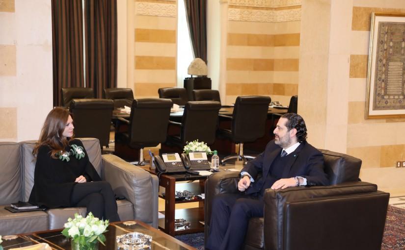 Pr Minister Saad Hariri meets Minister Viollette Safadi
