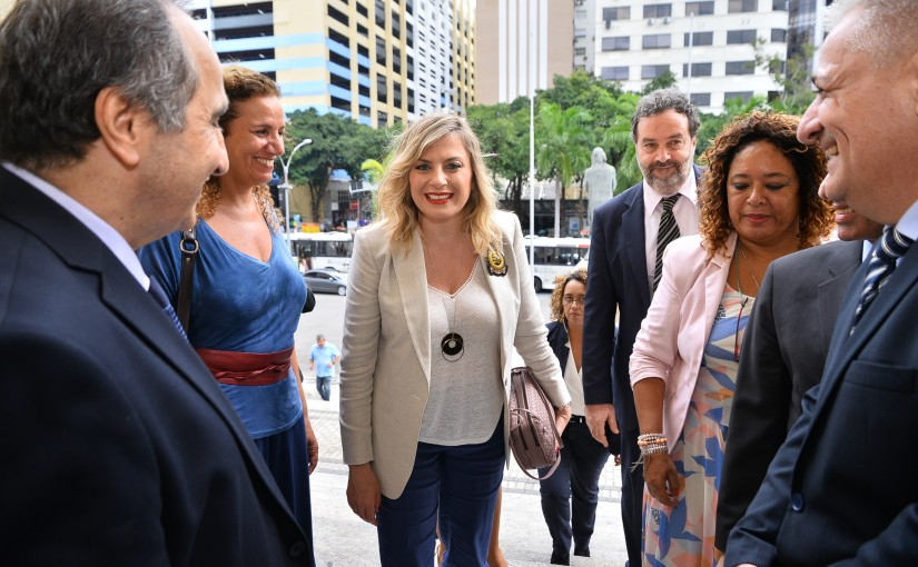 Mrs. Claudine Aoun Roukoz is a guest of honor in the Parliament of Rio de Janeiro We are working without boredom to change the stereotypical image of women in the Arab world.